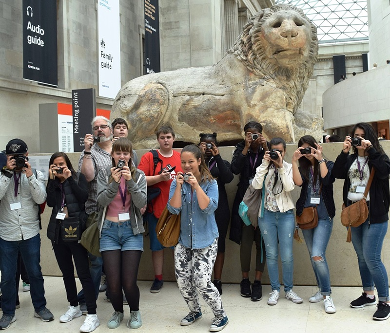 Young people have fun at Digital Photography with the British Museum