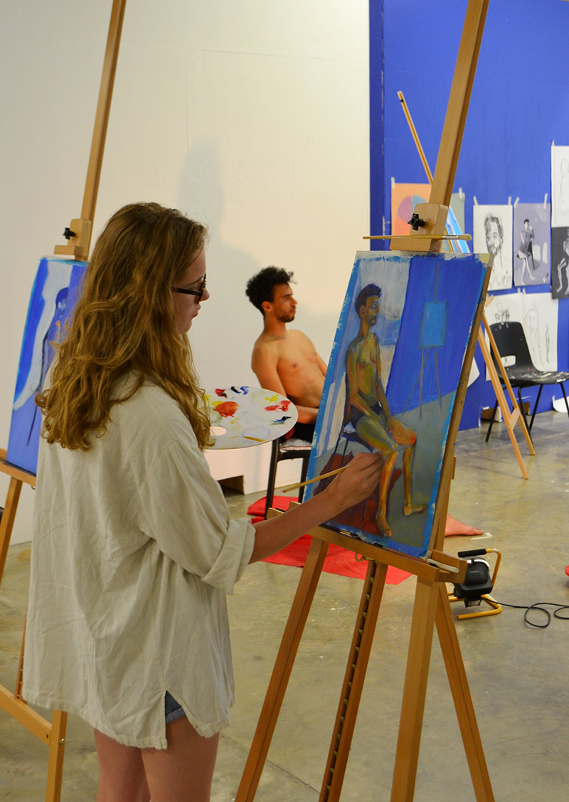 CSU students on the life drawing and painting course at Central Saint Martins 2016